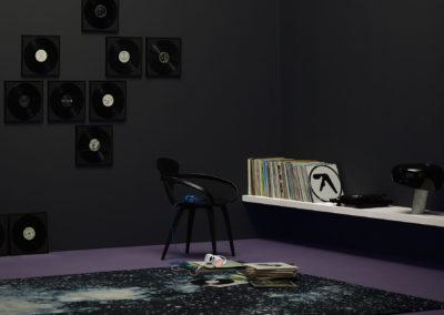 CAPAROL ICONS - NO 10 - TRIBUTE TO VINYL - Modernes graphisches Vinylschwarz. Ein dunkel-dramatisches Farbstatement. Verleiht Räumen Ruhe und Monumentalität.