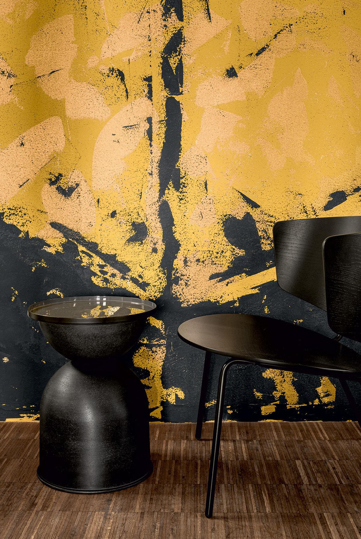 Experimentelle Oberfläche - Farben Palazzo und Amber